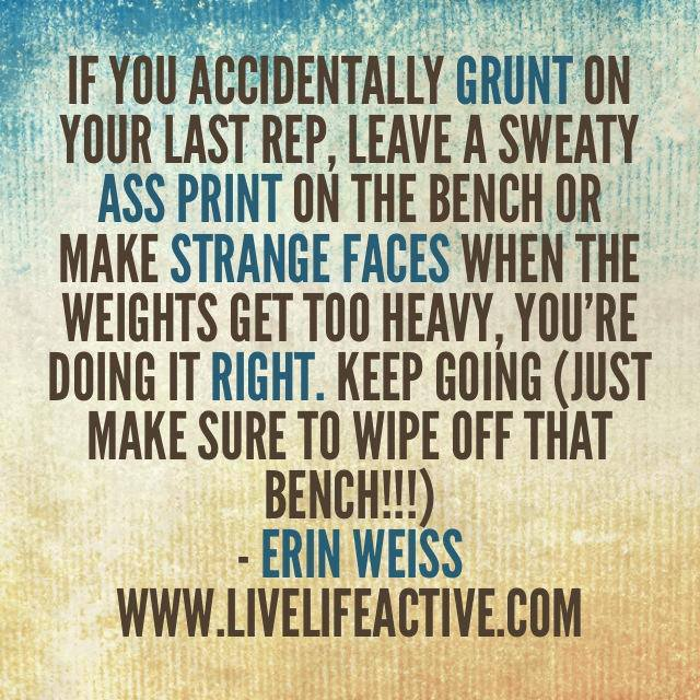 Fitness Quote Of The Day - Live Life Active Fitness Blog